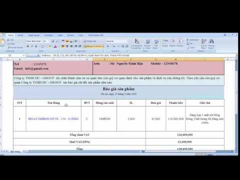 Hướng dẫn làm báo giá bằng Excel chuyên nghiệp