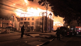 6 ALARM INFERNO! MAPLEWOOD, NJ CAUGHT ON CAMERA! EARLY CLOSE UP FOOTAGE!