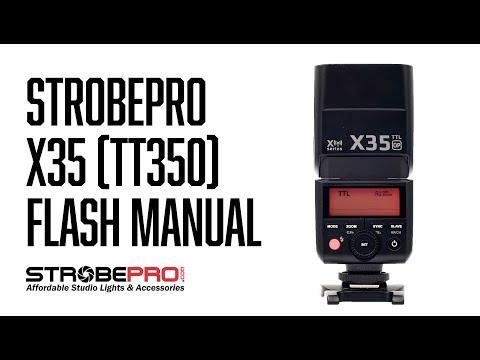 Strobepro X35 (TT350) Flash Manual