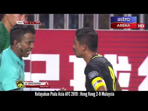Kelayakan Piala Asia AFC 2019 : Hong Kong 2-0 Malaysia