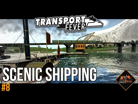 Scenic Shipping Route | Transport Fever The Alps mods series gaming #8