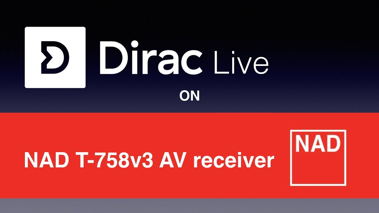 Dirac Live room correction on the NAD T758v3 AV-receiver