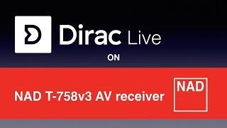 NAD T758v3 AV üzerinde Dirac Canlı oda düzeltme-alıcı
