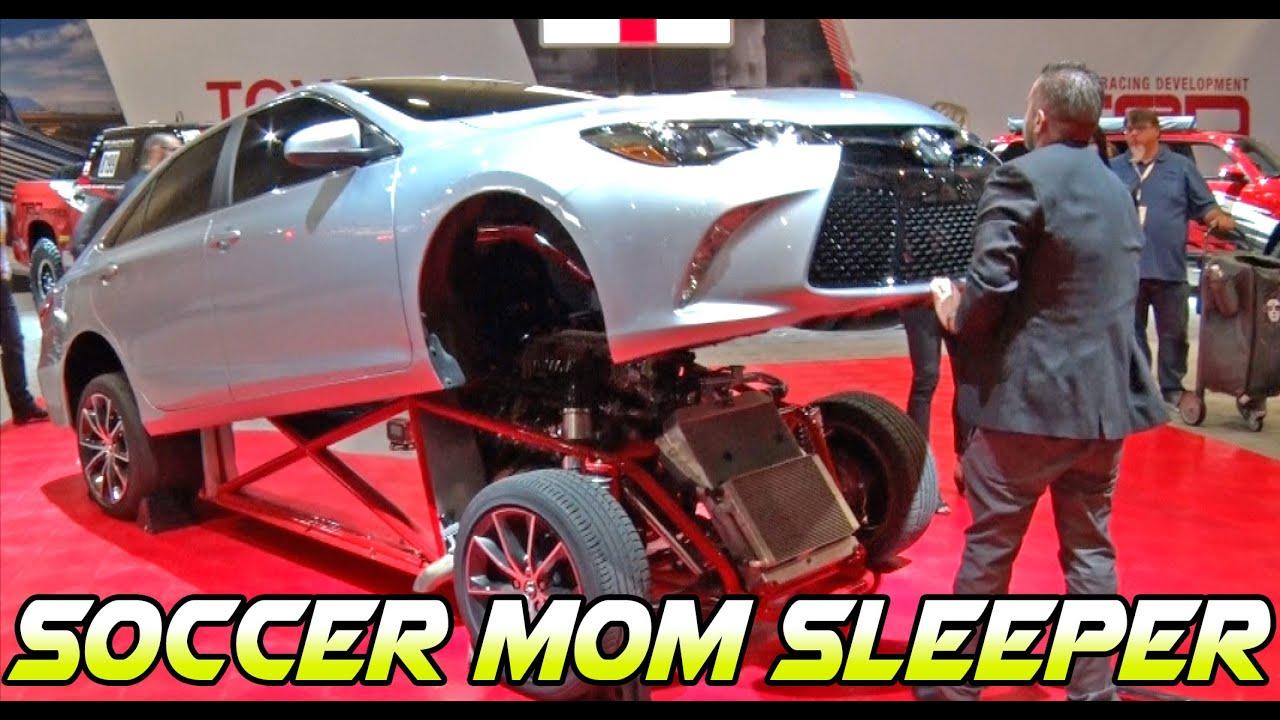 WTF!? Toyota Camry SOCCER MOM Sleeper! [SEMA14] - YouTube