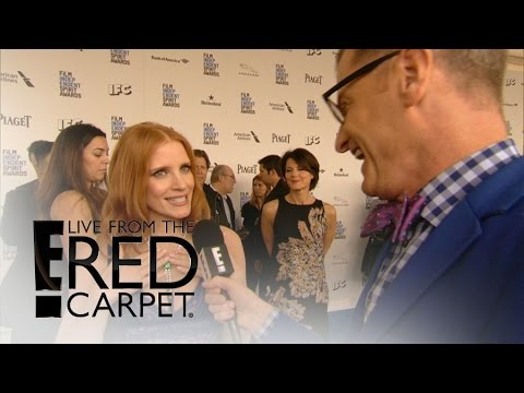 "Jessica Chastain Rocks ""Modest"" Piaget Necklace 