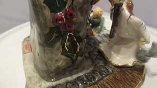 SOLD Blue Sky Corp Ceramic Christmas Scene Sculpture Heather Goldminc Artist