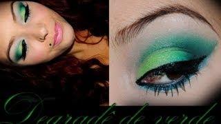 Como fazer um degradê de sombra verde.Por Shakyra Menezes