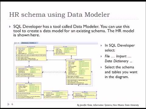 04 of 15 SQL Basics with Oracle - Data Model for sample HR database