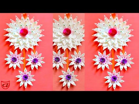 Wall hanging from Disposable plates   DIY home decoration ideas   Waste material craft - Episode 51