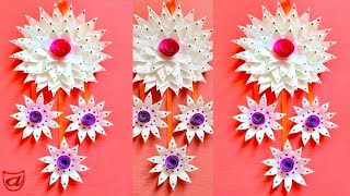 Wall hanging from Disposable plates | DIY home decoration ideas | Waste material craft - Episode 51