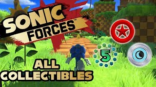 Sonic Forces - Stage 1 Lost Valley - All Red Rings, Number Rings and Silver Moons