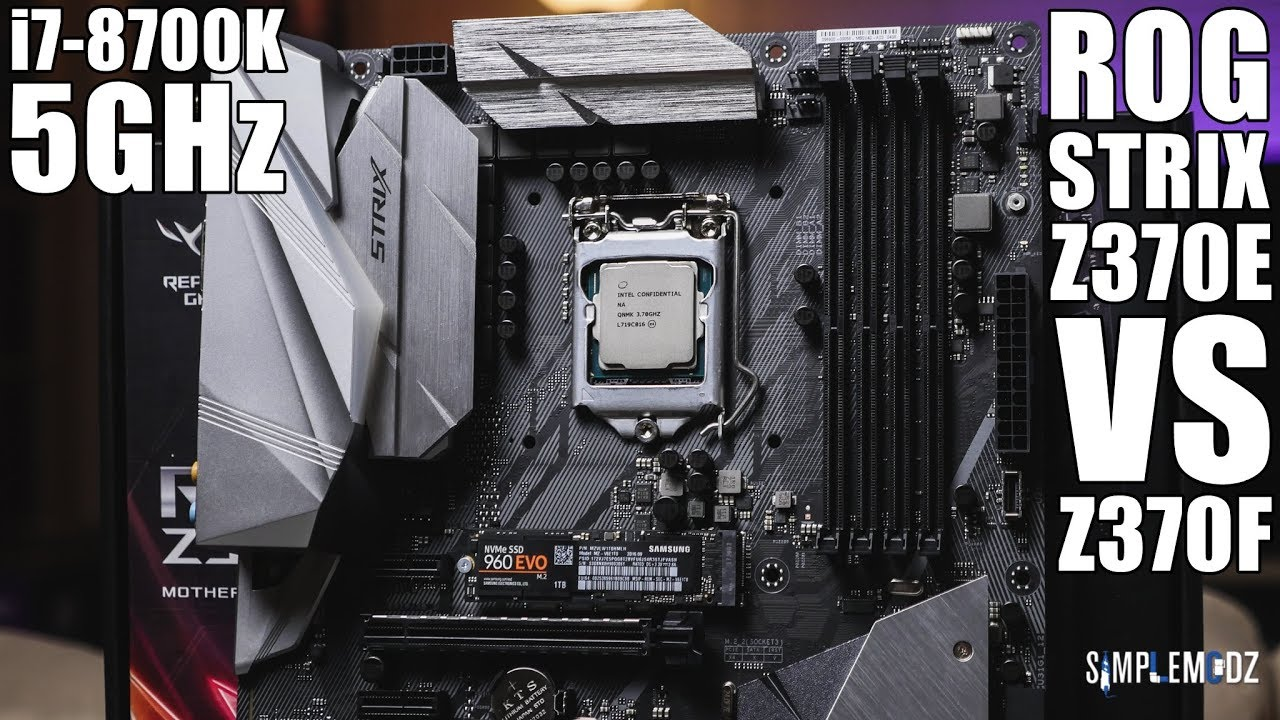 what motherboard for i7 8700k