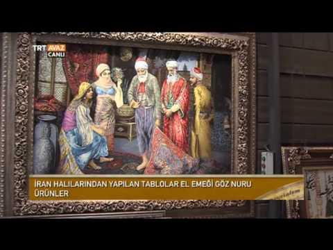 İran'ın Kapalı Çarşısı Büyük Pazar'da İran Halılarından Yapılan Tablolar - Devrialem - TRT Avaz