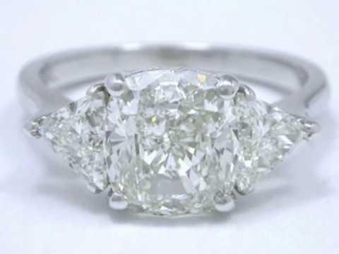 Best side stone options cushion diamond