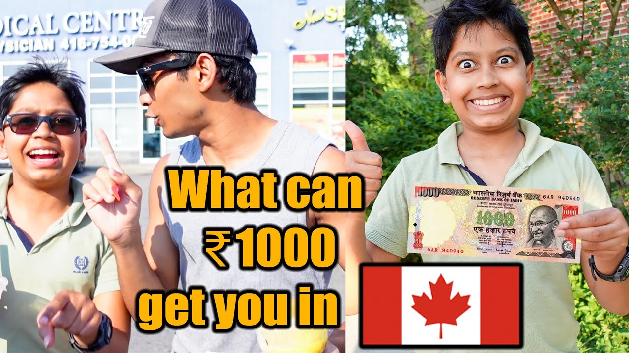 WHAT CAN ₹1000 GET YOU IN CANADA 🥳 | ₹1000 Budget CHALLENGE! | VelBros Tamil