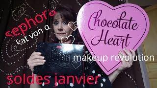 HAUL SOLDES JANVIER (sephora ,makeup revolution, cache cache...)