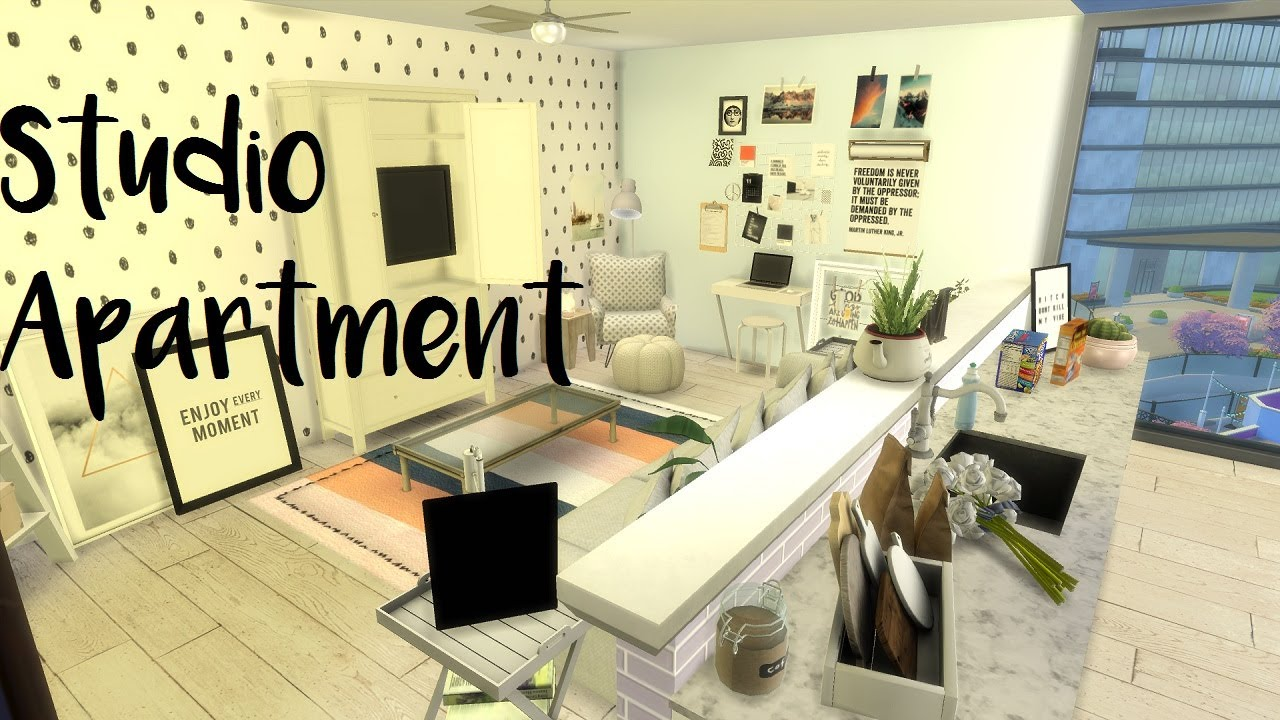 The Sims 4 Sd Build Studio Apartment With Cc Links
