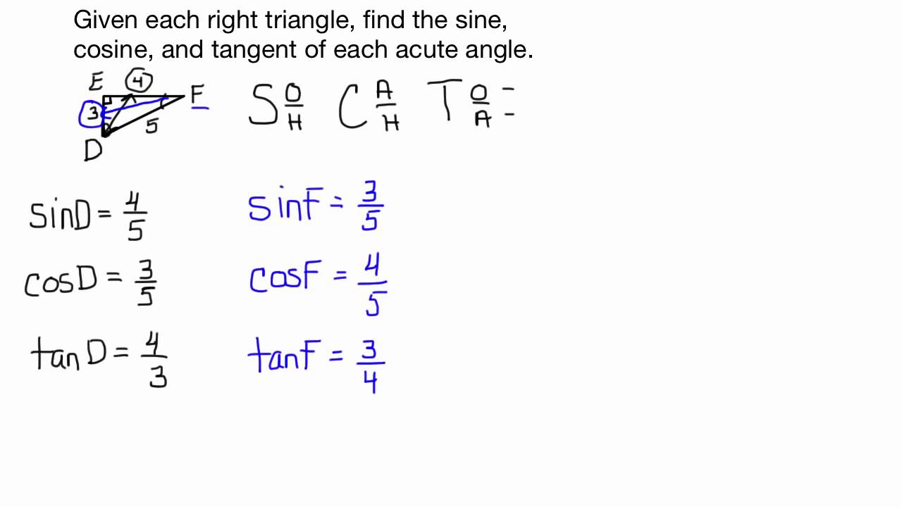 How to find the cosine of a triangle