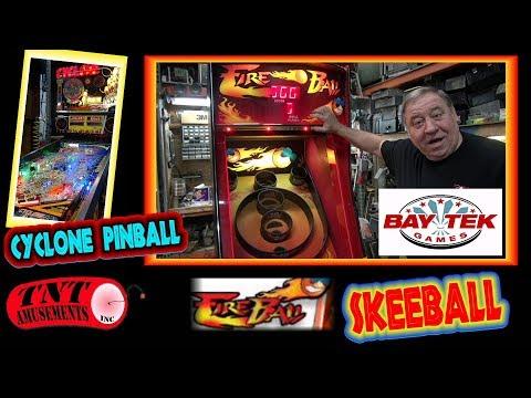 #1372 Bay Tek FIRE BALL Skeeball Machine-Midway RAMPAGE WORLD TOUR Arcade Video Game-TNT Amusements