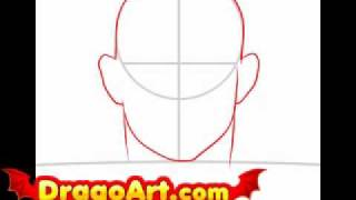 How to draw Chuck Liddell, step by step
