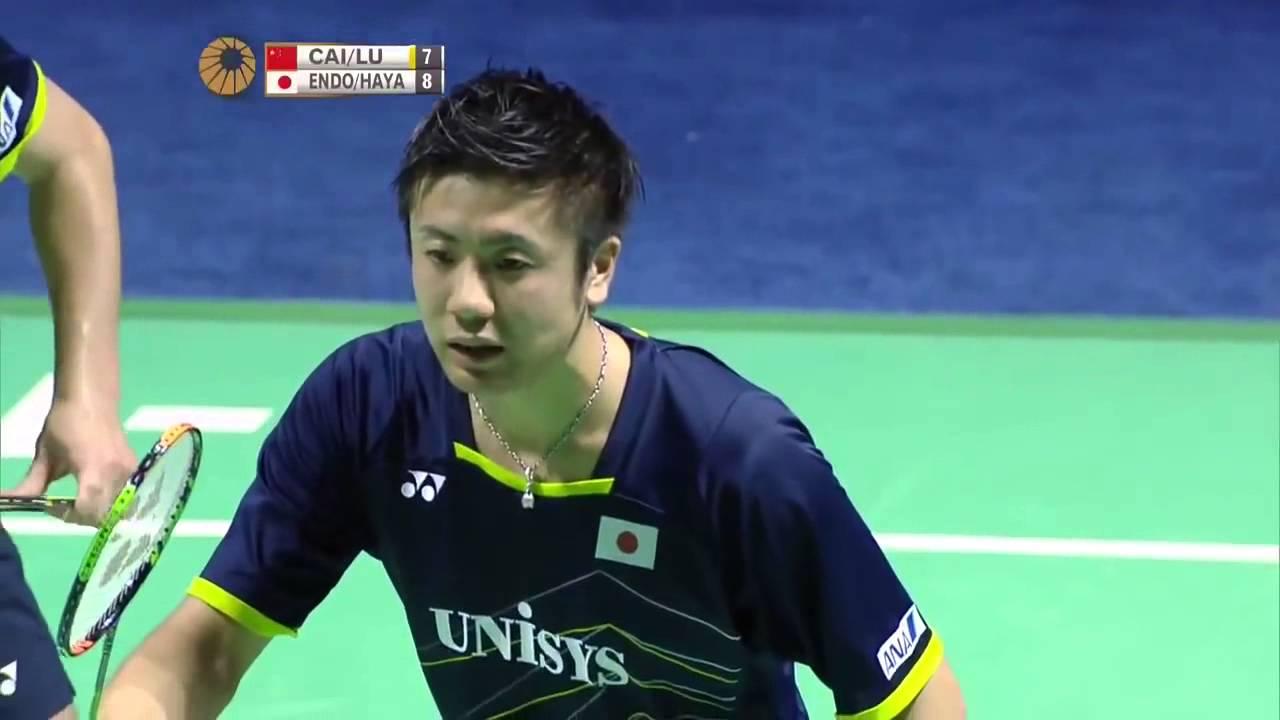 2015 Thaihot China Open R16 Cai Yun Lu Kai vs Hiroyuki Endo