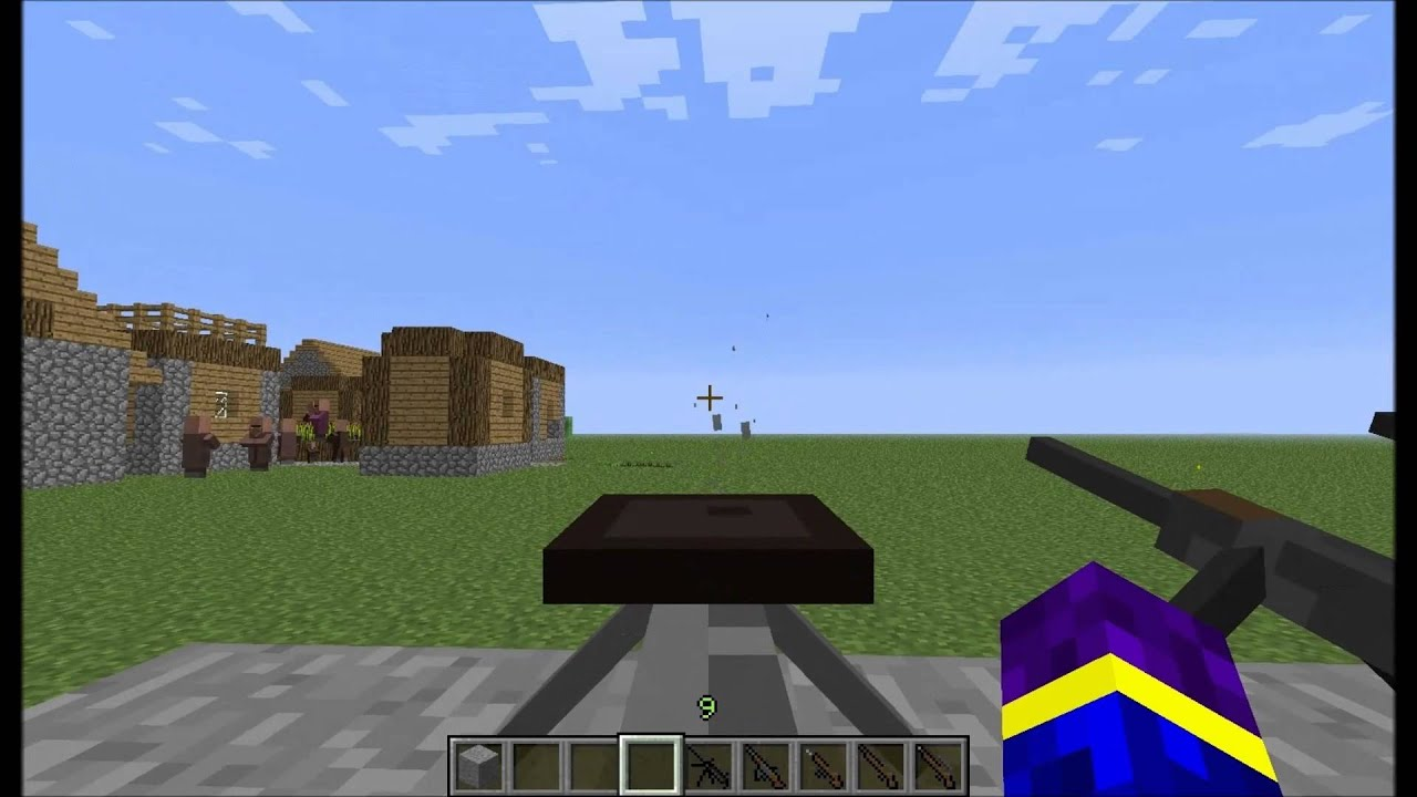 how to get the minecraft ps3 gun mod download