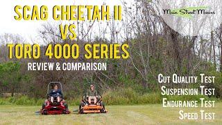SCAG Cheetah ll vs TORO 4000 Series - Review & Comparison