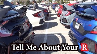 Honda Civic Type R's at Worlds Largest Cars & Coffee