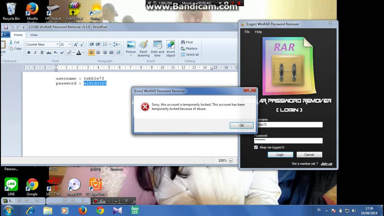 winrar password remover v5.1