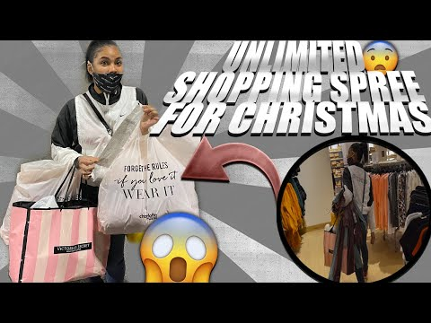 VLOGMAS DAY 20 UNLIMITED SHOPPING SPREE FOR CHRISTMAS *WATCH TO SEE HOW MUCH STUFF SHE GOT* #VLOGMAS