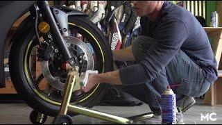Motorcycle Brake Maintenance: De-glazing Rotors | MC GARAGE VIDEO