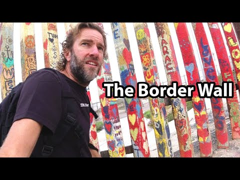 This is TIJUANA, MEXICO   Visiting the Border Wall