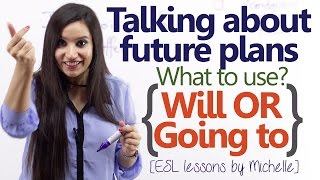'Will' or 'Going to' - Talking about Future plans - (English Grammar Lesson) thumbnail