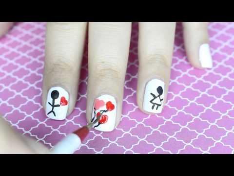 5 Diseños Uñas Amor y Amistad fácil y bonitos (diseños San Valentin)