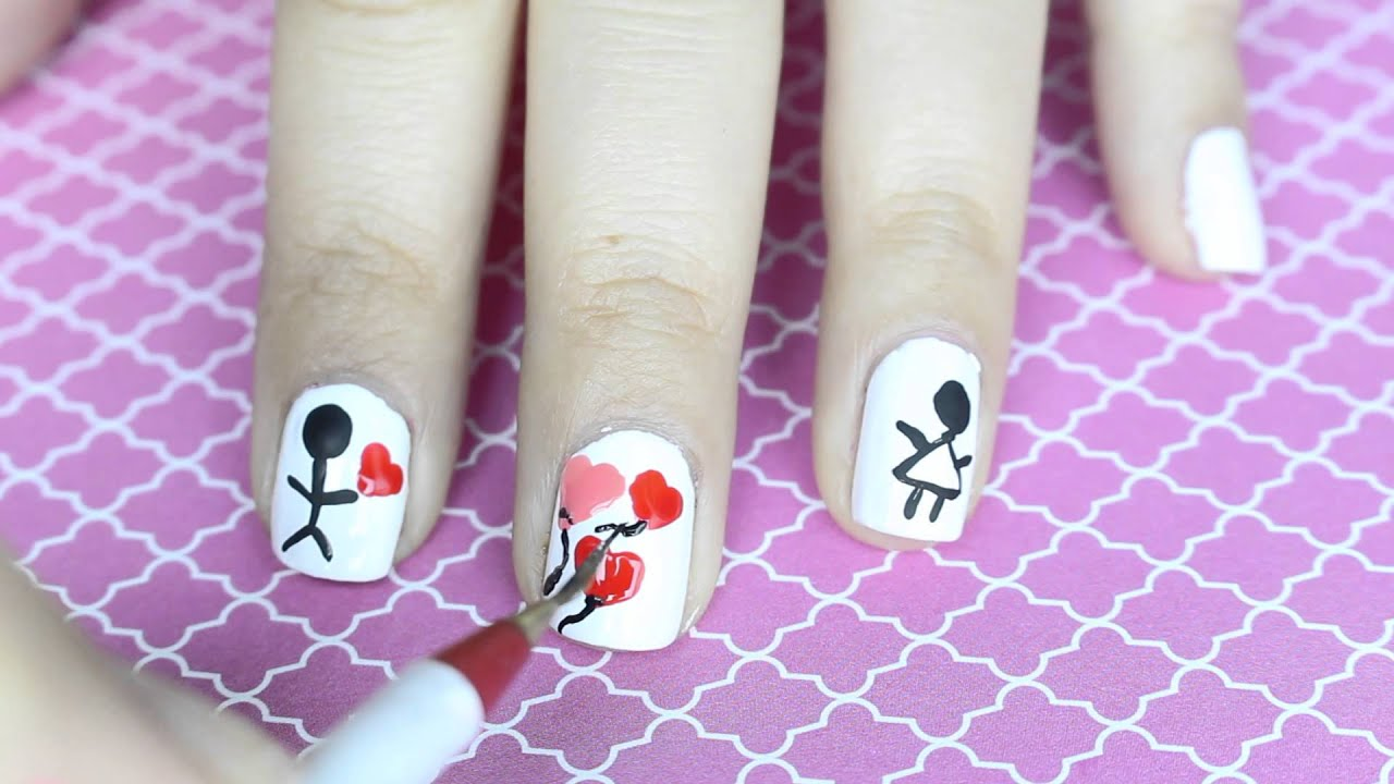5 Diseños Uñas Amor Y Amistad Fácil Y Bonitos Diseños San Valentin