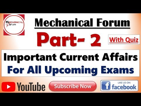 Part 2, Important Current Affairs 2018 for All Upcoming Exams | Expected Questions and Answers Quiz