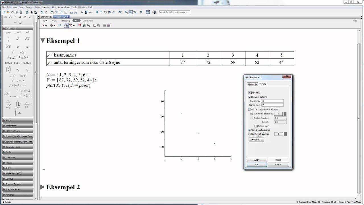 Sammenhænge - Grafisk bestemmelse af sammenhængstype