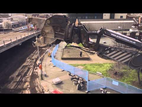 bridge-demolition---aerial-filming---belgrave-flyover