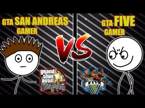 GTA V GAMER VS GTA SANANDREAS GAMER