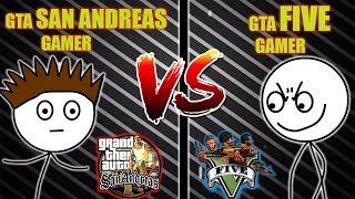 GTA V GAMER VS GTA SANANDREAS GAMER