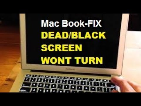How to restart a macbook air that wont turn on