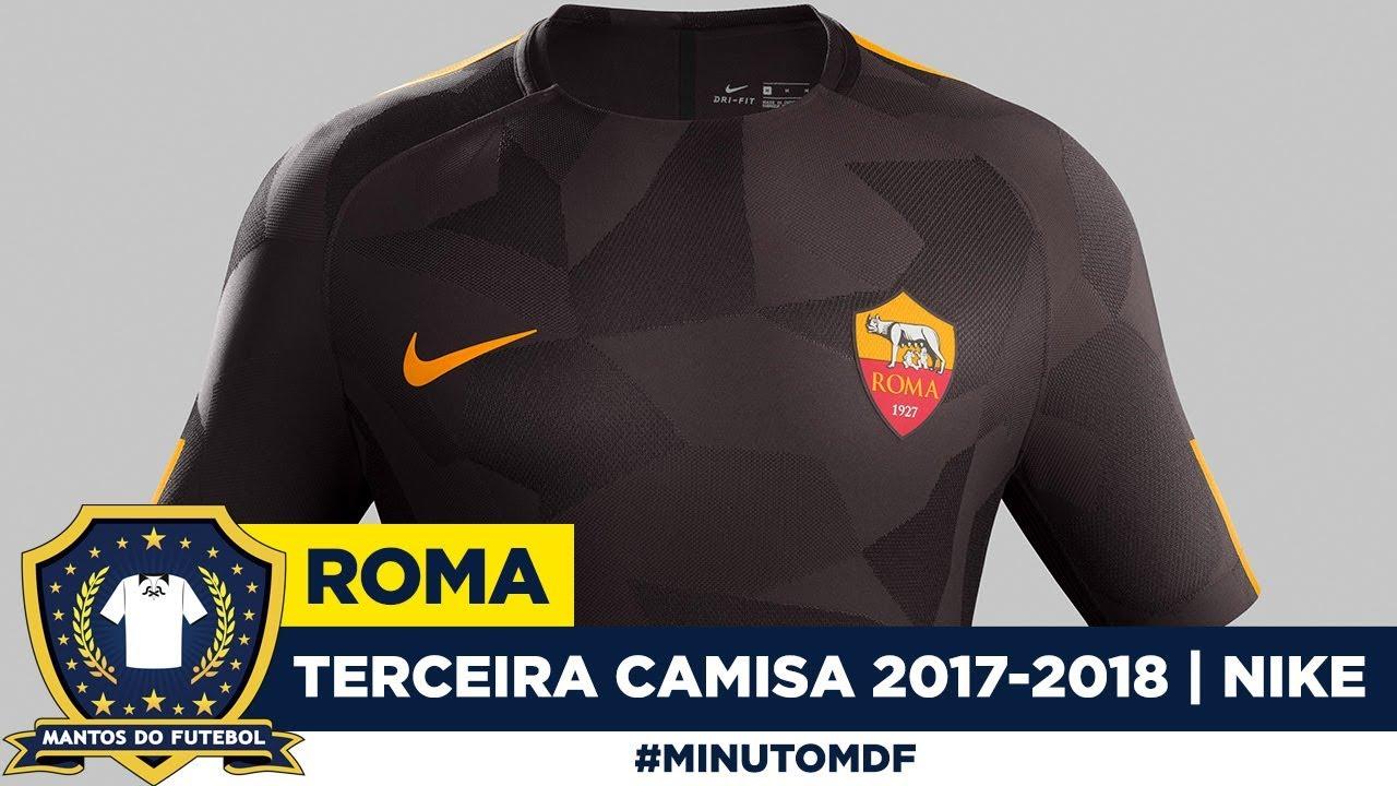 Terceira camisa da Roma 2017-2018 Nike - YouTube e90748d79ad