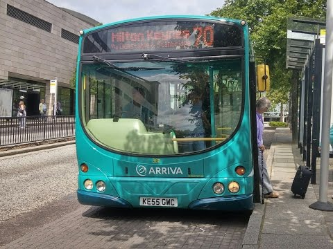 Arriva The Shires Scania L94UB Wright Solar 3611 KE55GWC.Route 70 Luton Station To Milton Keynes Stn