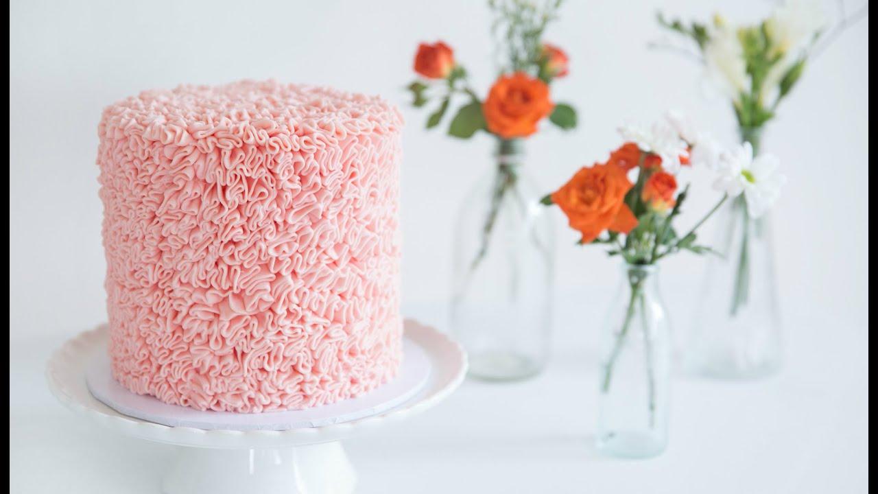 How To Make Fondant Rose Ruffle Cake