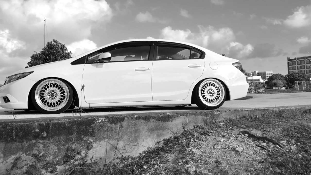 Honda Civic Coilovers >> 2012 CIVIC in Guam with 18 inch JNC WHEELS 031 - YouTube