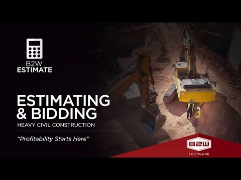 B2W Estimate - Construction Estimator Software - Job Cost Estimating Platform