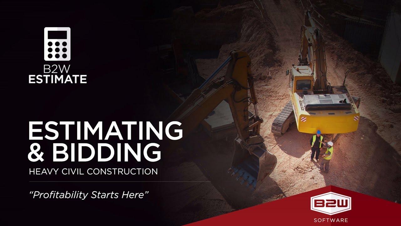 bw estimate construction estimator software job cost b2w estimate construction estimator software job cost estimating platform