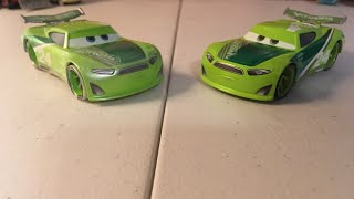 Disney Cars Chase Racelott|normal and FBR|diecast reviews