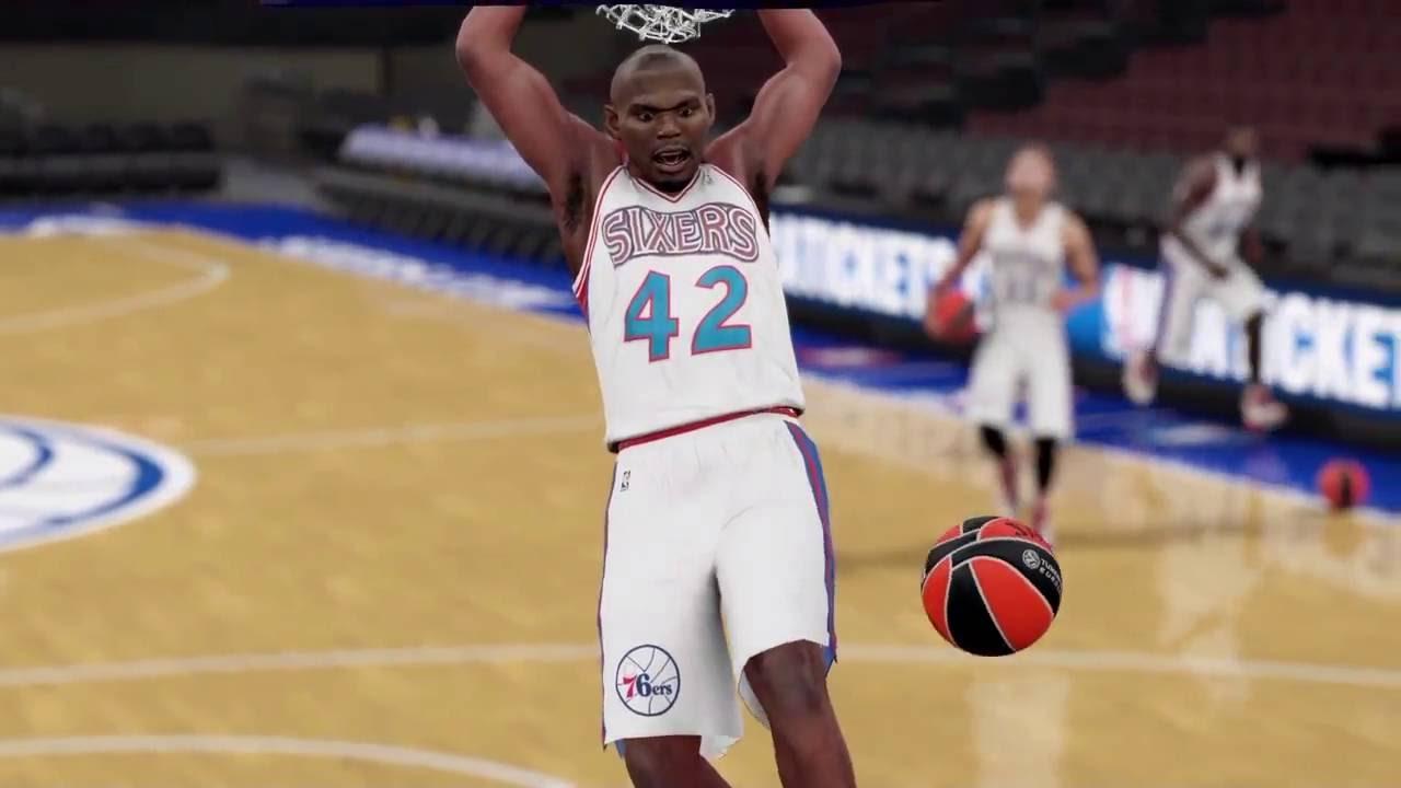 10edef3db5e NBA 2k16 Custom '96 76ers Jersey - YouTube