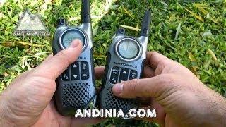 Walkie Talkie Motorola TLKR T8 Review Radiotrasmisor Transceptor